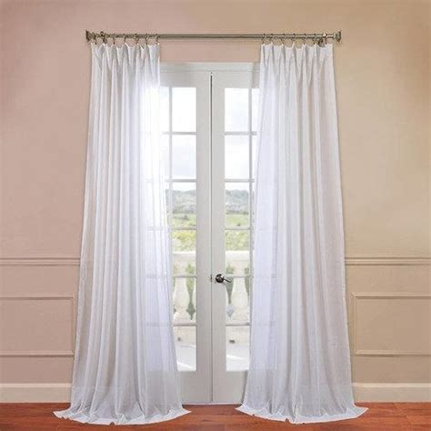 white linen sheer curtains half price drapes faux linen sheer single curtain panel by