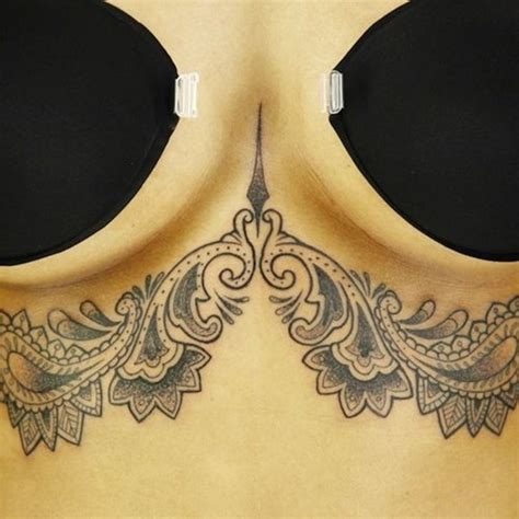 tattoos under breasts 96 breast designs for