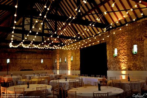barn lighting hire wedding  event lighting  oakwood