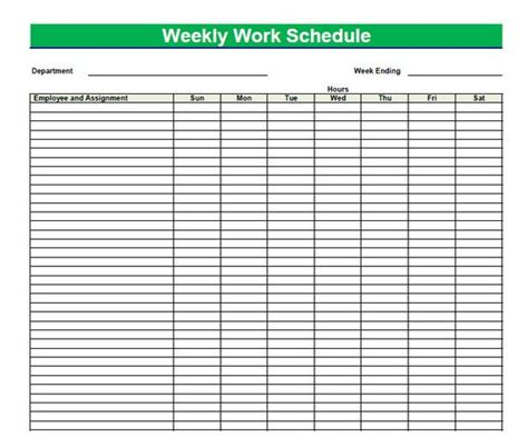 printable daily schedule sheets blank time sheets for employees printable blank pdf