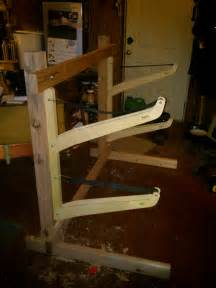 How To Build A Kayak Rack For Garage by Free Standing Kayak Rack Kayak Rack Kayak Storage And