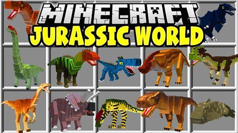 mod game jurassic world minecraft jurassic world mod trex velociraptors