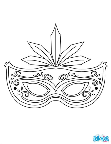 Masquerade Mask Coloring Pages Hellokids Com Masks Coloring Pages