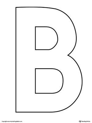 B Template by Uppercase Letter B Template Printable Letter Templates