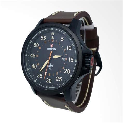 Jam Tangan Analog Kulit Oem Hitam jual expedition analog tali kulit jam tangan pria hitam