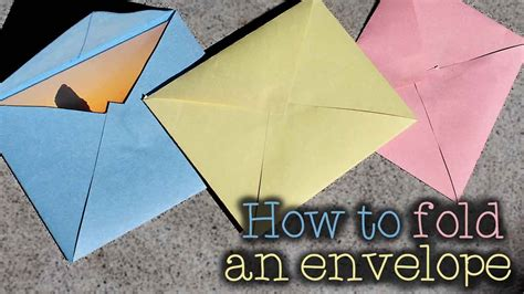 How To Make An Envelope With 8 5 X 11 Paper - how to make an envelope any size