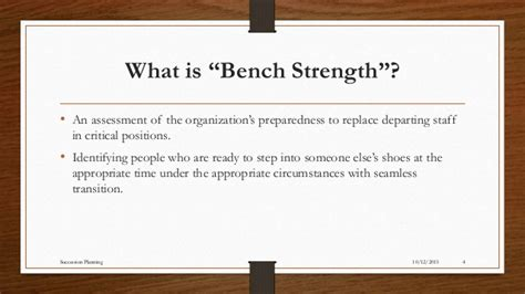bench strength succession planning succession planning