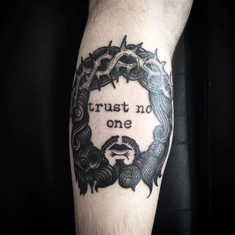 trust no one tattoo trust no one by abes tattoonow