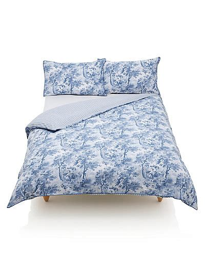 Country Toile Print Bedding Set M S M S Bed Linen Sets