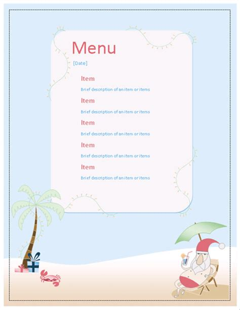 28 best office christmas menu menu office templates