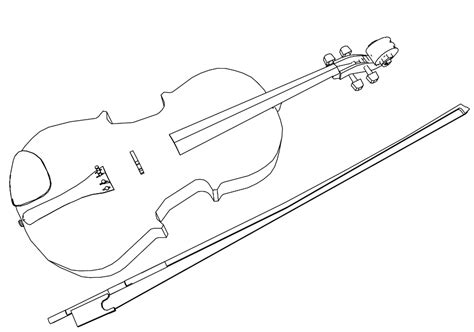 viola and bow coloring page coloring book