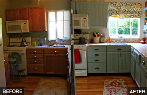 how to paint cheap kitchen cabinets kitchen makeover bob vila