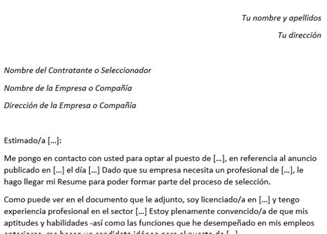 ejemplo de cover letter para resume resume con cover