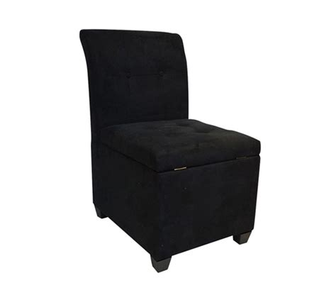 Chair With Storage Ottoman The Original Ottoman Chair 2 In 1 Storage Seat Black