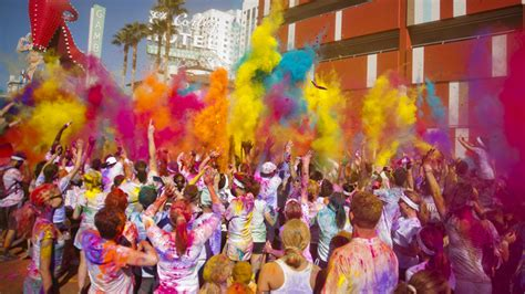 the color run las vegas color run 5k run takes place in downtown las vegas