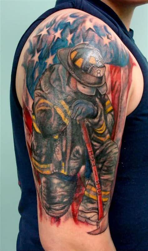 8 Firefighter Tattoos On Half Sleeve Firefighter Tattoos Designs