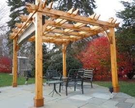 Pergola Canopy Pergola Kit 10x12 With Retractable Canopy Traditional