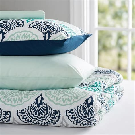 Feather Bedding Set Feather Scallop Value Comforter Set Pbteen