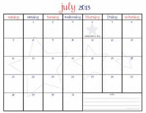 Calendar July 2013 July 2013 Calendar Printable Calendar Template 2016