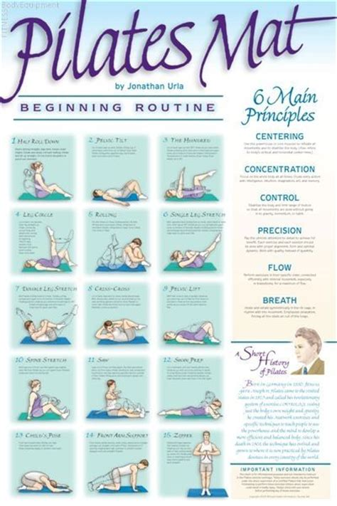 Mat Exercises by Pilates Poster Beginning Mat Routine