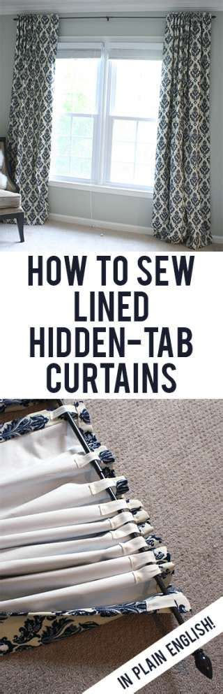 how to sew tab top curtains tutorial how to sew diy black out lined back tab curtains