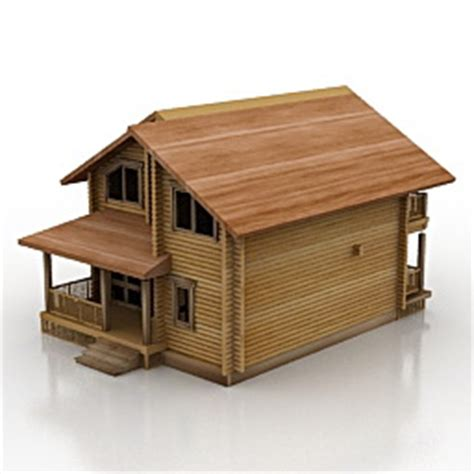 Home Decoration Stuff by Buildings And Houses 3d Models House Wood N241110 3d