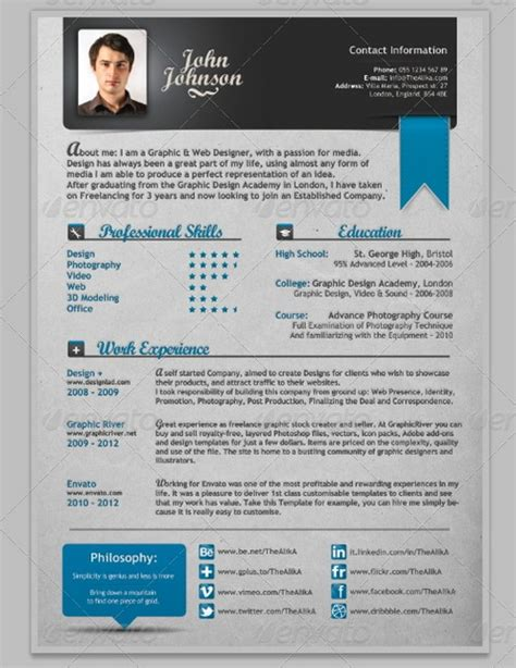 modern professional resume template 30 modern and professional resume templates