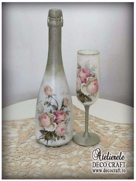 Decoupage On Glass - decorate glass bottles with decoupage 7