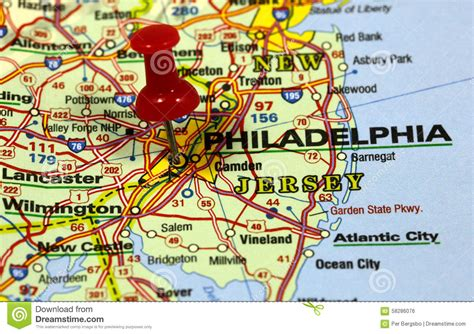 usa philadelphia map philadelphia stock photo image 58286076