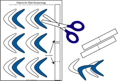 How To Make Boomerangs Out Of Paper - how to make boomerangs out of paper 28 images how to