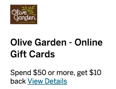 Olive Garden Gift Card Can Be Used At - amex offer deals olive garden under armour stacking running with miles