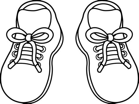 free coloring pages of pair of running shoes