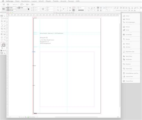 Anschreiben Bewerbung Textfeld In 6 Steps Einen Briefbogen Im Indesign Erstellen 187 Saxoprint