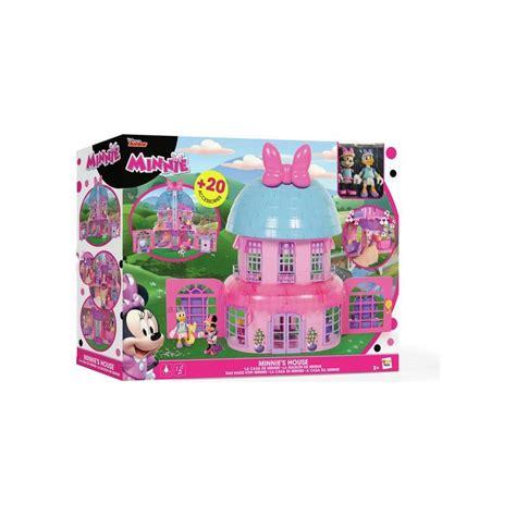 casa minnie casa de minnie con 2 figuras y accesorios luces y sonidos