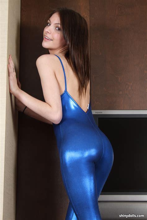blue spandex clothes