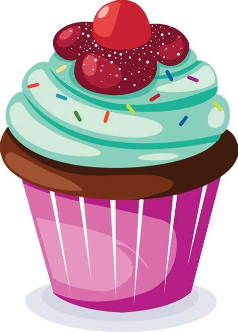 1223 best Cupcake- Clip Art images on Pinterest | Cupcake ... Free Clipart Cupcakes