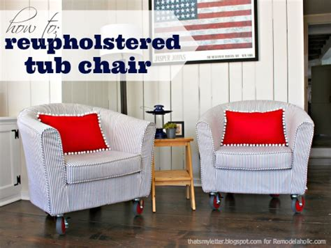 How To Reupholster A Tub Chair remodelaholic how to reupholster a tub chair