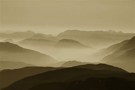 gambar pemandangan horison kreatif gunung awan