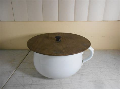 Commode Pot by Antique Ceramic Commode Chamber Pot Slop Jar W Handle