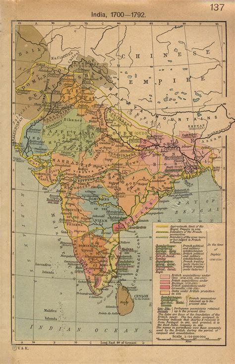 historical maps india maps perry casta 241 eda map collection ut library