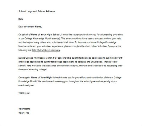 appreciation letter for working with us volunteer appreciation letter sle fotolip rich