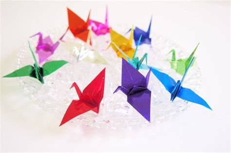 Origami Foil Paper - 1000 ideas about paper cranes on origami