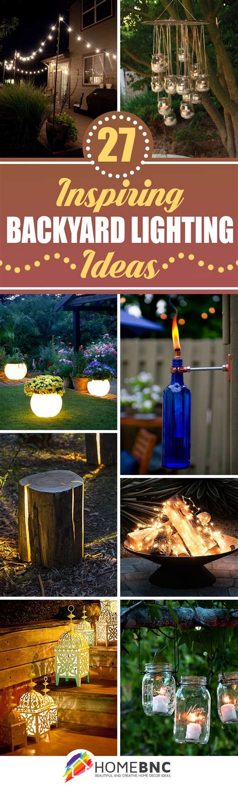 Backyard Lighting Ideas Pinterest 27 Pretty Backyard Lighting Ideas For Your Home Backyard Patios And Yards