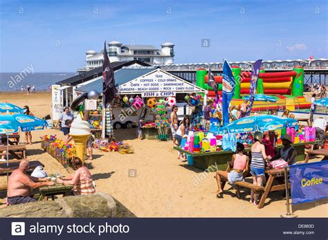 houses to buy in weston super mare gift shop on the beach at weston super mare somerset uk in summer stock photo