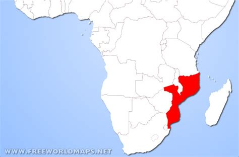 mozambique in world map where is mozambique located on the world map
