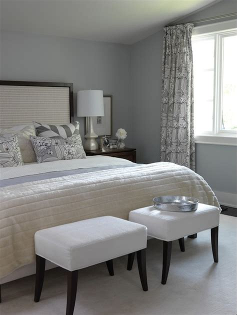 Sarah Richardson Bedroom | gray bedroom paint colors transitional bedroom ici