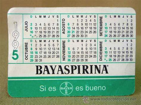 Calendario A O 1995 Calendario Bayaspirina 1995 Argentina Comprar