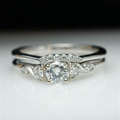 beautiful engagement ring wedding band set 14k