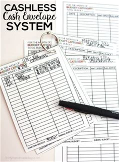 cash envelope system free printable the mombot checkbook looking into the future pinterest