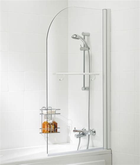 curved bath shower screens lakes curved bath shower screen with rail 800mm ss11 05